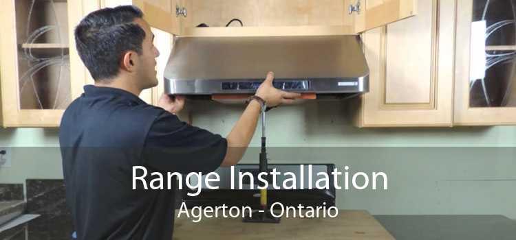 Range Installation Agerton - Ontario