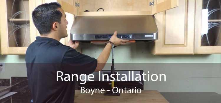 Range Installation Boyne - Ontario